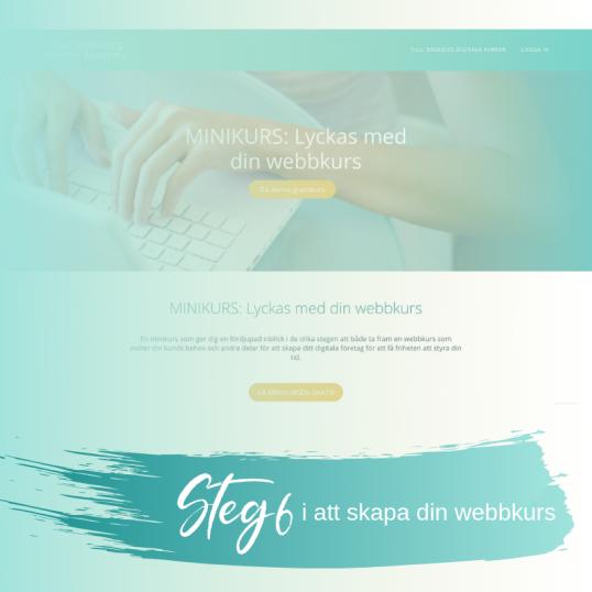 Steg 6 i att skapa din webbkurs