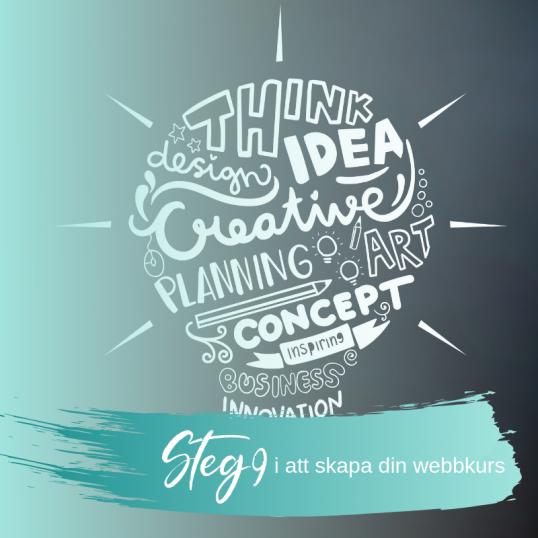 Steg 9 i att skapa din webbkurs