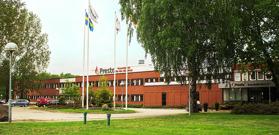 Vår samarbetspartner Prestos huvudkontor och fabrik i Katrineholm. Klicka för större bild.
