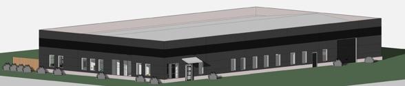 Det nya bygget på Boglundsängen i Örebro som det kommer att se ut våren 2015.