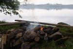 Grillplats vid sjön