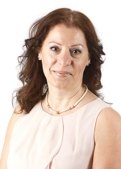 Marcelle Farjallah, kongressombud och ordförande för Falkenbergs Arbetarekommun.