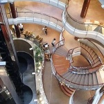 Regent Seven Seas Mariner - View down to Atrium 95