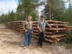 Pål och Erik och en 28 meter lång trave.