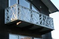 Balkong och räcke
