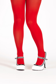 Margot tights real red - One size