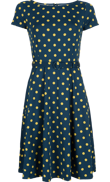 Betty dress partypolka Green