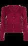 Kofta red lilac V-ringad - L