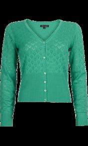 Hjärtankofta Sparkle green - XS
