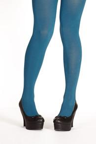 Margot tights PLUS - petrol - Margot tights turquise -PLUS