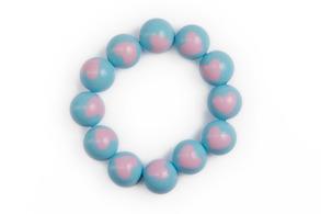 Hjärtarmband ljusblå/rosa - Margot - Hjärtarmband ljusblå/rosa