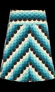 Border skirt Frisky green - XS