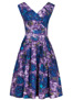 Florence dress, Purple floral