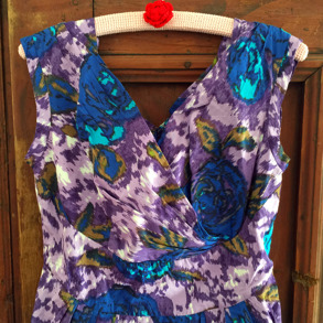 Florence dress, Purple floral - XS