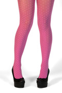 Margot tights pink dot