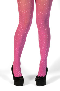 Margot tights pink dot - one size