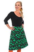 Sonja kjol cirklar grön