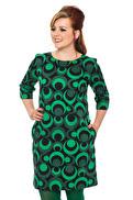 Olivia klänning cirklar grön