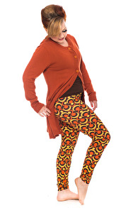 Lo leggings orange - S
