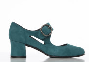 Frida Teal suede - Nordic Shoepeople