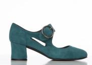 Frida Teal suede - Nordic Shoepeople