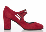 Liv Red suede - Nordic Shoepeople