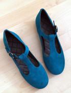 Saga Teal suede - Nordic Shoepeople
