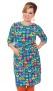 Doris klänning regnbåge - XL