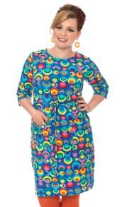 Doris klänning regnbåge - L