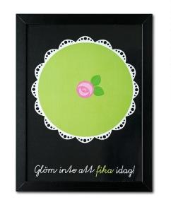 A3 Poster Prinsesstårta - Floryd - A3 poster prinsesstårta