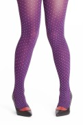 Margot tights  Purple drops