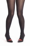 Margot tights  Black Hot Dots
