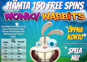Gratissnurr hos iGame i nya Wonky Wabbits!