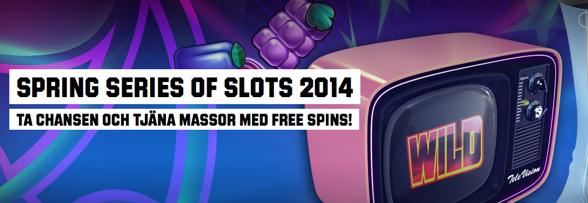 Gratissnurr varje dag i Spring Series of Slots!
