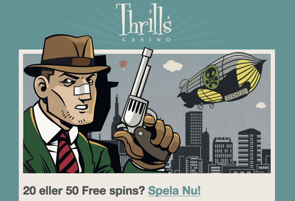 Gratissnurr i dagarna två hos Thrills Casino!