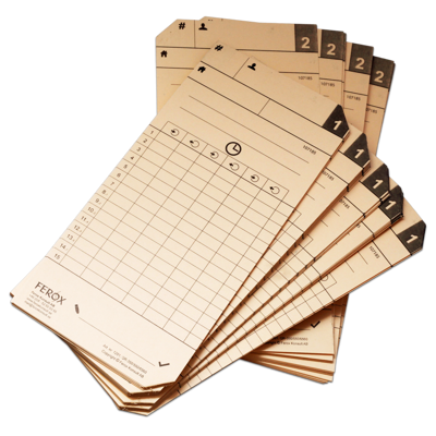 Artnr 1204 Stämpelkort/Punchcards QR350/QR550/QR395 100 st.