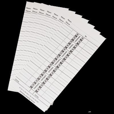 Artnr 1235 - Stämpelkort/Punchcards TP20 500 st.