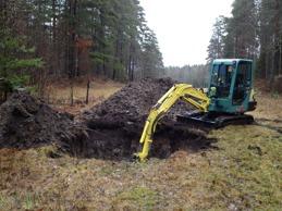 Grävning av hästgrav.