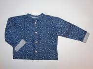 Art.nr 105. Skjorta mönstrad blå. Ekologisk bomull. Strl 70, 80, 90, 100, 110, 122/128, 134/140, 146/152. Pris inkl frakt: 490:-