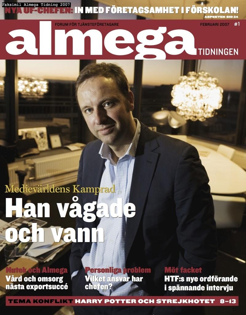 Intervju med Christopher Östlund i tidningen Almega 2006