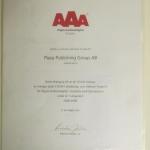 AAA Högsta kreditvärdighet 2009