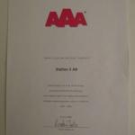Station 5 AB erhöll AAA i högsta kreditrating 2009