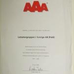 AAA i kreditvärdighet Lotsatorgruppen i Sverige 2009