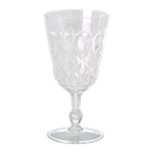 Swirly Embossed Wine Glass Acrylic
