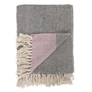 Filt rosa/svart/beige från Bloomingville -