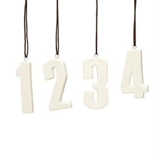 Siffror till adventljusstaken -
