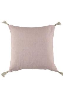 Kuddfodral i linne m tofsar - Kuddfodral i linne m tofsar pink liliac