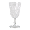Swirly Embossed Wine Glass Acrylic - Swirly Embossed Wine Glass Acrylic white