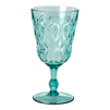 Swirly Embossed Wine Glass Acrylic - Swirly Embossed Wine Glass Acrylic mint