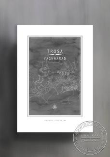 Poster Vagnhärad karta 30x40cm